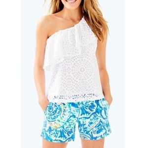 $98 NWT LILLY PULITZER Matteo Lace Flowy Top XL